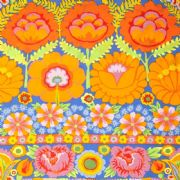 Kaffe Fassett Artisan Embroided Flower - Orange